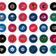 NHL Standings Board team magnetic pucks